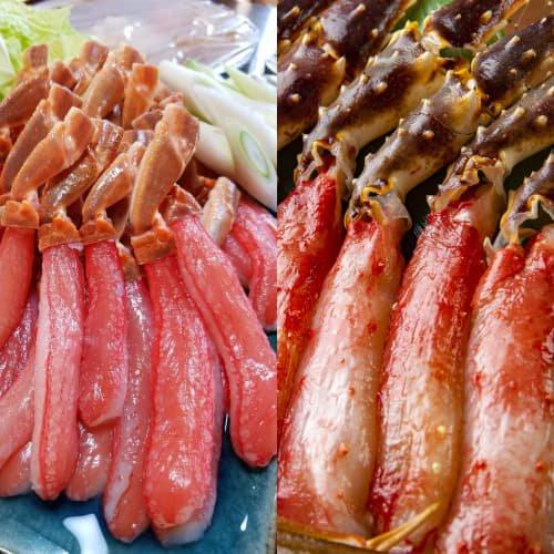 生冷凍タラバとズワイの食べ比べセット各1kg入
