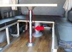 車内インテリア(ベッドやテーブル関係) テーブルポール単体