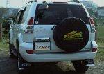 ランクルの背面タイヤにカバーをつけて盗難の抑止