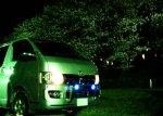 【車種から】ハイエースに関するブログ 夜桜と200系ハイエース
