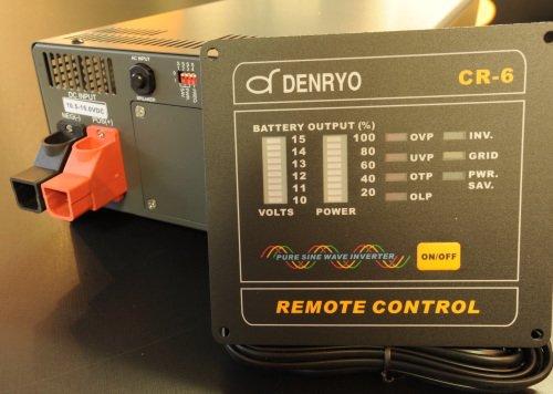 1500w正弦波インバーターとコントローラーの説明写真
