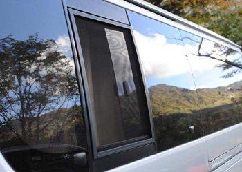 200系1〜3型(H16年8月〜H25年11月)ハイエース用バグネット(網戸)−ブラック【画像5】