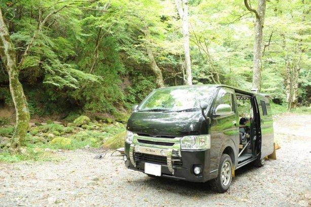 茨城県のとある渓流のほとりでBBQ&車中泊