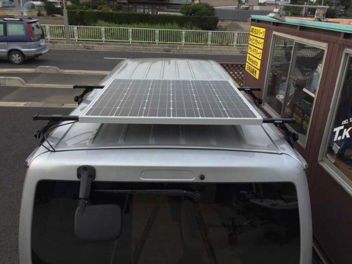 ソーラーパネルは車高が難点