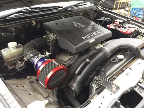 V80パジェロ用V90パジェロ用(6G72)用RUSHフィルター アタッチメントセット
