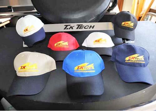 T.K TECHのオリジナルキャップは7種類あります