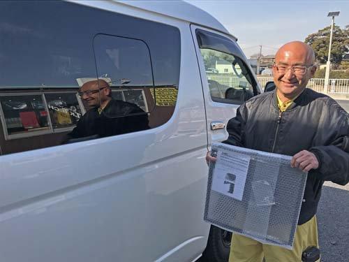 5型200系ハイエース用バグネット(ハイエース網戸)を買いに来てくれた埼玉県Sさん
