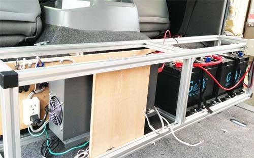 5年前に施工したディープサイクルバッテリー、インバーター、充電器など
