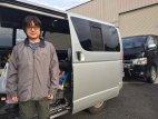 【車種から】ハイエースに関するブログ 車載用ソーラーパネルを車庫で利用