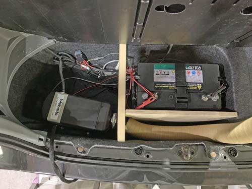 ノアにベバストFFヒーターとディープサイクルバッテリーを取付