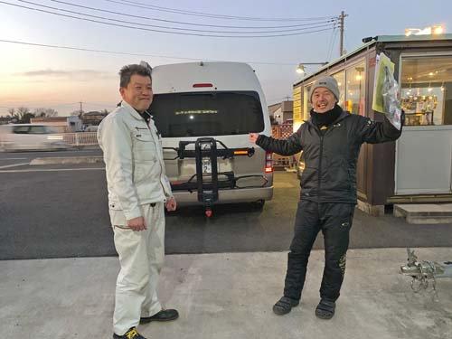 ヒッチメンバーとサイクルキャリアを取り付けの埼玉県Mさん