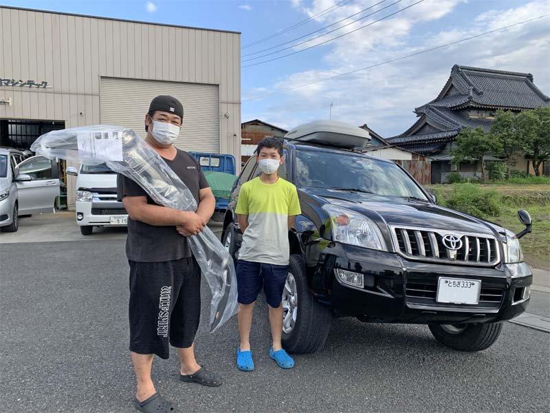 栃木県Sさん親子が120プラド用バグガードを買いに来てくれました