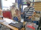 6型ハイエース 埼玉県Kさんご夫婦がバグネットを買いに来てくれました