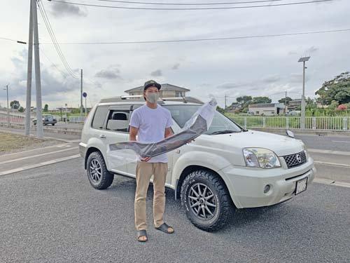 T30エクストレイル用バグガードを購入してくれた埼玉県Mさん