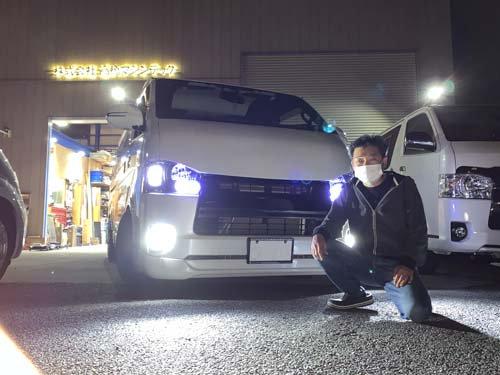 栃木県Kさんのローダウンハイエースにベバストヒーターを外付け