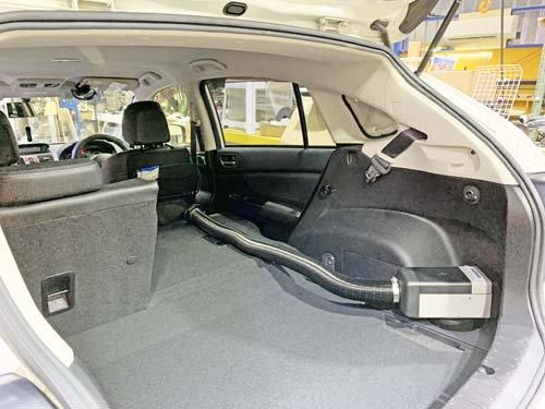 スバルXVにベバストヒーターを取付