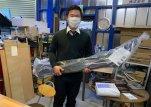 長野県Aさんが120プラド用フロントプロテクターを買いに来てくれました
