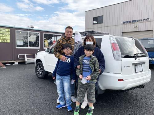 埼玉県からT30エクストレイル用バグガードを買いに来てくれたご家族