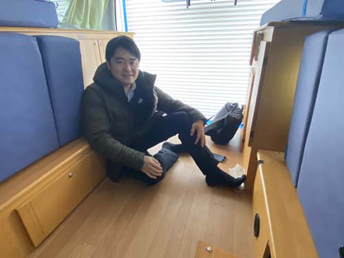 ゲストハウス「シャコンヌ軽井沢で活躍中のレンタカーに付いているベバストヒーター等をオーバーホール