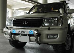 ランドクルーザー100 用 LED DOTARM(フォグ ランプ&LEDリング付ランプステー)