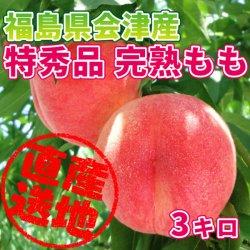 【送料無料】【極上のフルーツセレクション】会津産 桃 特秀品 約3kg(9~11玉) 匠の桃を産地直送もぎたてをお届けします【贈答用にも最適で…