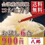 令和元年産 送料込み900円お試しパック 氏郷 【白米 900g】