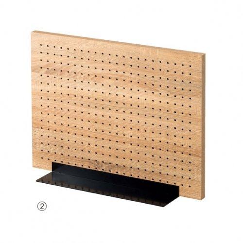 卓上有孔パネルスタンド 両面タイプ ラスティック柄+ベース ブラック 選べる2サイズ【EX6-426-86】