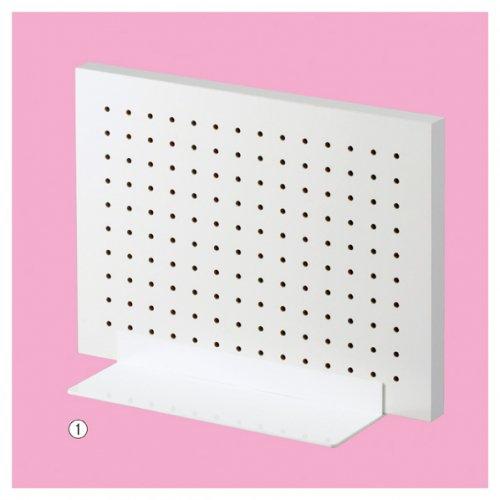 卓上有孔パネルスタンド 両面タイプ ホワイト+ベース ホワイト 選べる2サイズ 【EX6-426-88】