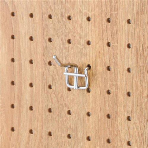 有孔パネル用フック 10本セット クローム φ4mm 長さ2cm 【EX6-123-8-1】