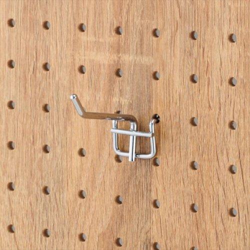 有孔パネル用フック 10本セット クローム φ4mm 長さ5cm 【EX6-123-8-2】