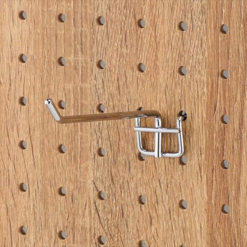 有孔パネル用フック 10本セット クローム φ4mm 長さ10cm 【EX6-123-8-3】