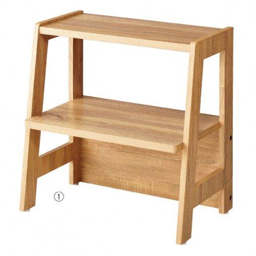 アパレル&雑貨陳列全般にオススメ!木製ディスプレイラック 選べる2サイズ【EX6-103-4】