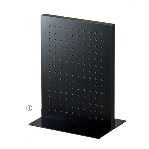 卓上有孔パネルスタンド 両面タイプ ブラック+ベース ブラック 選べる2サイズ 【EX6-426-87】