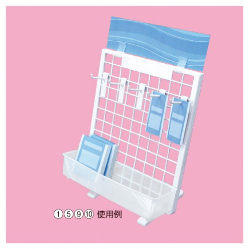 樹脂製卓上ネットスタンド 【EX6-127-8】専用フック 10本セット 選べる4タイプ【EX6-127-8-5】