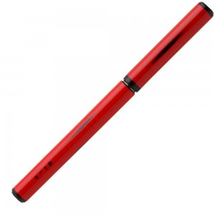 あかしや天然竹筆ペン漆調<赤軸> 桐箱入り