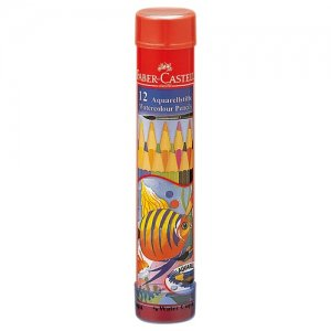 水彩色鉛筆 ファーバーカステル 丸缶12色セット