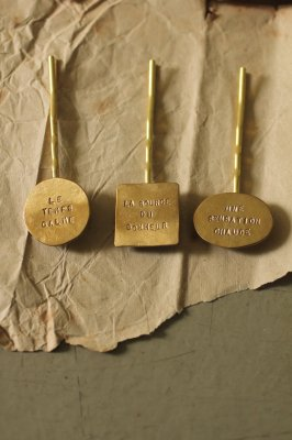 Brass Stamp Plate Hair Pin
