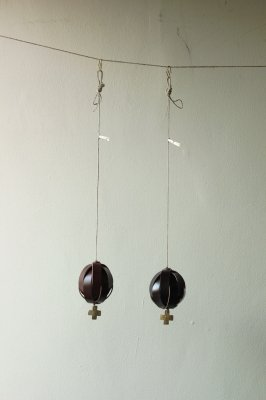 Cordovan Leather Ball Ornament