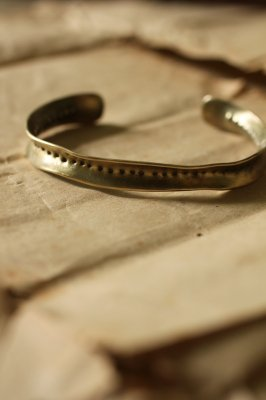 Brass Frill Bangle #2 - Dot