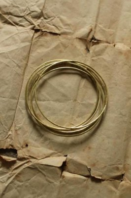 Brass Hoop Bangle 1.5mm