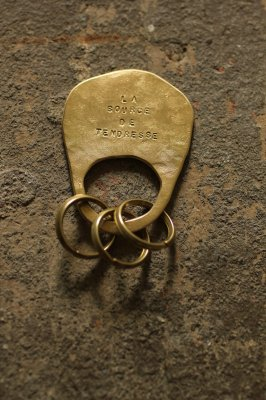 Brass Plate Key Holder