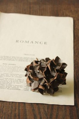 Hydrangea Leather Corsage - Gray