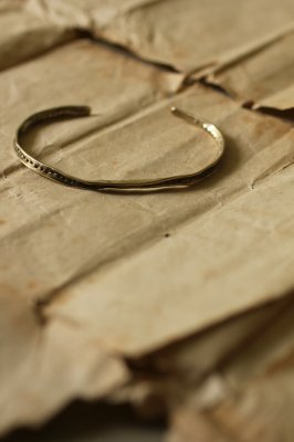 Brass Frill Bangle #1 - Dot