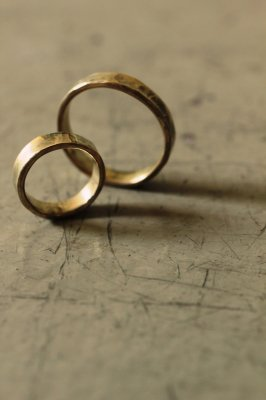 Pair Brass Flat Ring 3mm