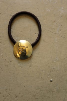 Brass Concho Hair Gom - Round