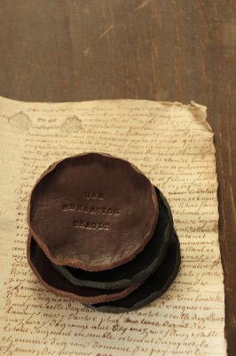 Leather Coaster - Round