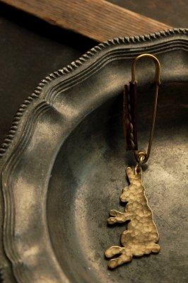 Brass Rabbit Pin Brooch