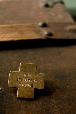Brass Cross Brooch