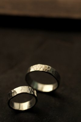 Pair Silver Flat Ring 6mm - #1
