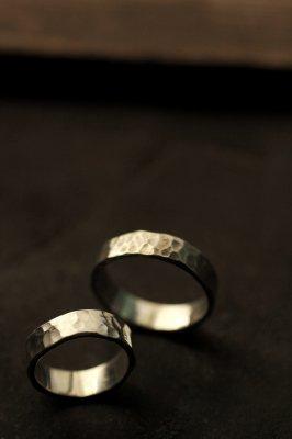 Pair Silver Flat Ring 6mm - #1